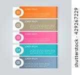 business infographics template... | Shutterstock .eps vector #429267229