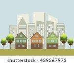 modern green city concept | Shutterstock .eps vector #429267973