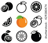 orange fruit icon collection  ... | Shutterstock .eps vector #429280474