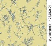 vector seamless floral pattern... | Shutterstock .eps vector #429282604
