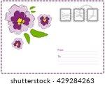 cute vector printable postcard. ...   Shutterstock .eps vector #429284263