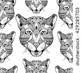 seamless pattern. hand drawn... | Shutterstock .eps vector #429285703