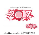 happy new year 2017 or 2016...   Shutterstock .eps vector #429288793