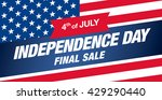 independence day sale banner... | Shutterstock .eps vector #429290440