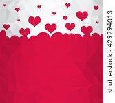 many flying hearts. bright... | Shutterstock . vector #429294013