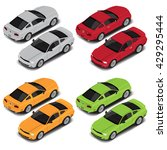 vector isometric coupe sport... | Shutterstock .eps vector #429295444