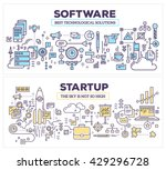 vector creative concept... | Shutterstock .eps vector #429296728