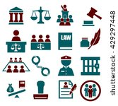 attorney  court  law icon set | Shutterstock .eps vector #429297448