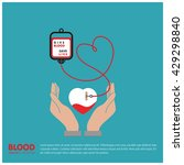 blood bank donating heart to... | Shutterstock .eps vector #429298840