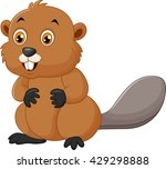 illustration of a beaver on a... | Shutterstock . vector #429298888
