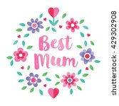 cute floral typographic card on ... | Shutterstock .eps vector #429302908