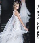 barcelona   april 29  a model... | Shutterstock . vector #429303763