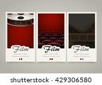 modern colorful vertical cinema ... | Shutterstock .eps vector #429306580
