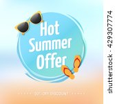 hot summer offer label | Shutterstock .eps vector #429307774