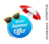 special summer offer label   Shutterstock .eps vector #429307918