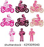 a pink color variations set at...