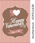 happy valentine day card vector ... | Shutterstock .eps vector #429311638