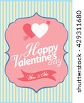 happy valentine day card vector ... | Shutterstock .eps vector #429311680