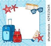 vector summer nautical... | Shutterstock .eps vector #429315634