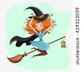 witch  halloween witch  little... | Shutterstock . vector #429323059
