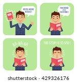 set of businessman characters...   Shutterstock .eps vector #429326176