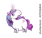 magic unicorn. vector... | Shutterstock .eps vector #429336844