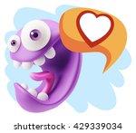 3d rendering smile character...   Shutterstock . vector #429339034
