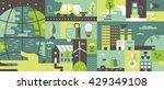 ecology design background flat | Shutterstock .eps vector #429349108