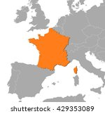 map   france | Shutterstock .eps vector #429353089