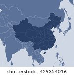 map   china | Shutterstock .eps vector #429354016