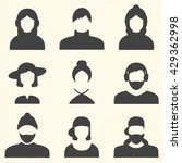 male and female faces avatars.  ...