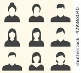male and female faces avatars.  ...