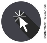 click here vector icon  round... | Shutterstock .eps vector #429364258