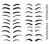 set of eyebrow collection... | Shutterstock .eps vector #429366184