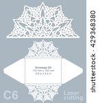 vector die cut envelope... | Shutterstock .eps vector #429368380