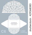 vector die cut envelope... | Shutterstock .eps vector #429368383