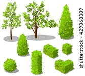 vector isometric trees and... | Shutterstock .eps vector #429368389