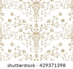 gold baroque seamless pattern...