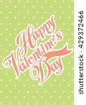 happy valentine day card vector ...   Shutterstock .eps vector #429372466