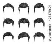 set of men's hairstyles.... | Shutterstock .eps vector #429375604