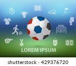 football festival with icon and ... | Shutterstock .eps vector #429376720
