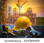 safety gear kit and tools... | Shutterstock . vector #429389404
