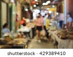 blur photo of people shopping... | Shutterstock . vector #429389410