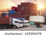 industrial container cargo... | Shutterstock . vector #429390478