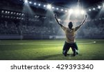 he is the champion | Shutterstock . vector #429393340