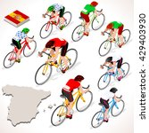 vuelta de espana. spain racing... | Shutterstock .eps vector #429403930