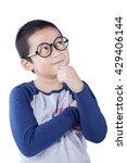cute schoolboy thinking idea... | Shutterstock . vector #429406144