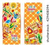 festa junina village festival... | Shutterstock .eps vector #429408394