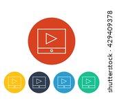 vector video icon