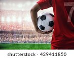 Soccer Football Player In Red...